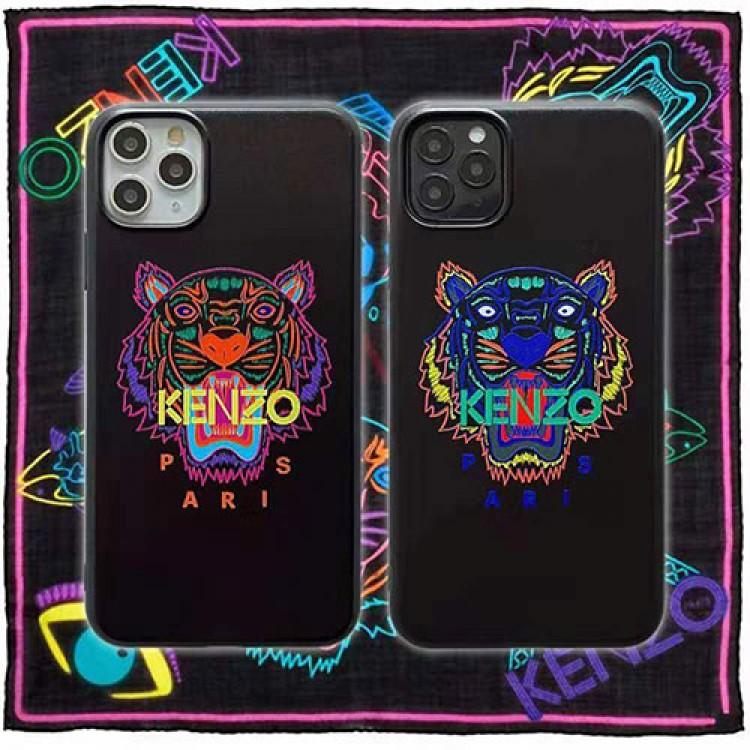 ケンゾー iphone12/12mini/12pro/12pro maxケース モノグラム 虎頭柄 Kenzo 経典 人気ブランド 黒色 アイフォン11/11 pro max/x/xs/xr/8 plus/7ケース おまけつき メンズ レディース