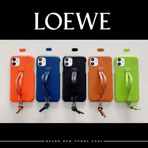 ロエベ ブランド iphone12mini/12pro max/11 pro maxケース かわいい LOEWE レザー ストラップ付き アイフォン12/12pro/11/xs/8/7ケース おまけつき ジャケット型 2021 高級 大人気 レディース