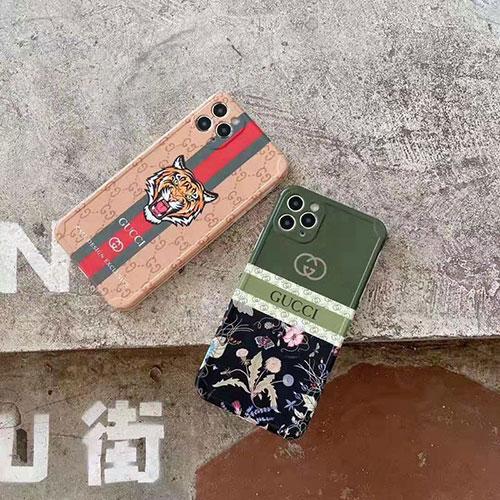 グッチ iphone 12/12 pro/12 mini/12 pro max/11/11 pro/11 pro max/se2ケース お洒落 虎頭 タンポポ プラント花柄 ブランド ストランプ付 GUCCI バタフライ アイフォンx/xs/xr/8/7カバー メンズ レディース
