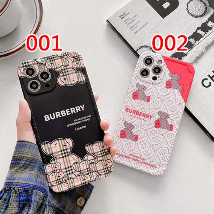 バーバリー iphone 12 pro/12 pro maxケース ブランド Burberry  ベア熊柄 モノグラム ジャケット型 iphone 12/12 mini/11/11 pro/11 pro maxケース 2021 アイフォンx/xs/xr/8/7 plus/se2ケース 耐衝撃 メンズ レディース