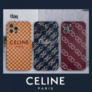 CELINE ブランド iphone 12/12 pro/12 mini/12 pro max/11/11 pro/11 pro max/se2ケース ins風 カラー モノグラム セリーヌ シンプル 衝撃吸收 アイフォンx/xs/xr/8/7カバー メンズ レディース