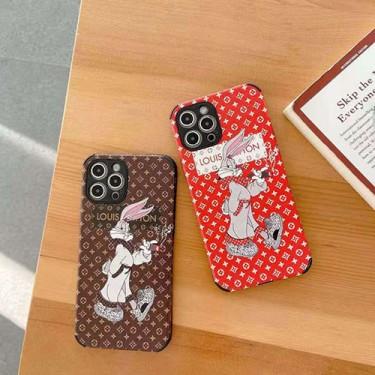 LV ディズニー コンボ iphone 12/12 pro/12 mini/12 pro max/11/11 pro/11 pro max/se2ケース インスタ風 モノグラム バッグス・バニー柄 ルイヴィトン キャラクター風 四角保護 面白い アイフォンx/xs/xr/8/7カバー メンズ レディース