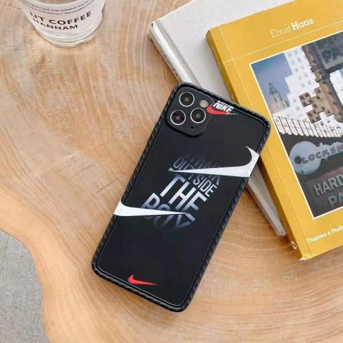 ナイキ iphone 12 pro/12 mini/12 pro max/11 pro/11 pro maxケース ブランド NIKE 韓国風 スウッシュ柄 モノグラム swoosh iPhone 12/11/X/XS/XRケース お洒落 アイフォンx/xs/xr/xs max/8/8 plus/7/7 plusカバー 芸能人愛用 衝撃吸收 メンズ レディーズ