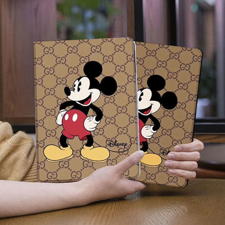 グッチ&ディズニー iPad Pro 2021ケース ミッキーマウス アイパッドエア1/2/3/4/8/7世代ケース 10/11.9 inches 赤色 GUCCI 横開きモノグラム 2020 ダミエ アイパッド 6/5/4/3/2ケース 手帳型 9.7インチ アイパッド プロ 激安 オーダーメイド メンズ レディース