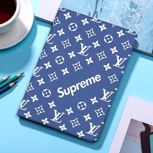 Supreme ipad8/7世代 pro 9.7/11inch 2020ケース ブランド シュプリーム ipad mini 4/5カバー ルイヴィトン ipad 5/6 9.7インチ 青色 激安 LV すべてのipad機種対応 iPad Air 10.9インチケース  コピーiPad Proケース 9.7インチ 2018/2017 メンズ レディース