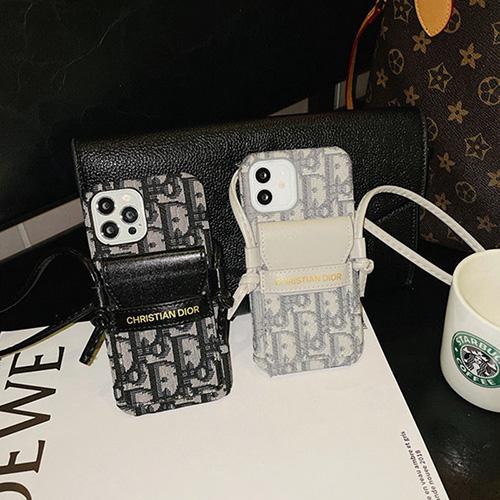 ブランド ディオール iphone13Pro max/13Pro/13mini/13ケース ポケット付き ショルダースト ラップ付き Dior IPhone 12pro/12pro max/12mini/12布製カバー 耐衝撃 斜め掛け レディース向け アイフォン11/11 pro/11 pro max/se2ケース 高級感 オシャレ かわいい
