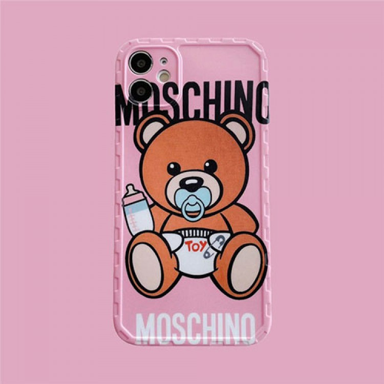 モスキーノ ブランド IPhone 12/12 pro/12 mini/12 pro max/11/11 pro/11 pro max/se2ケース お洒落 ジャケット ぬいぐるみ熊 Moschino ブランド アイフォンiphone x/xs/xr/x8/7/6/6s Plusカバー メンズ レディース
