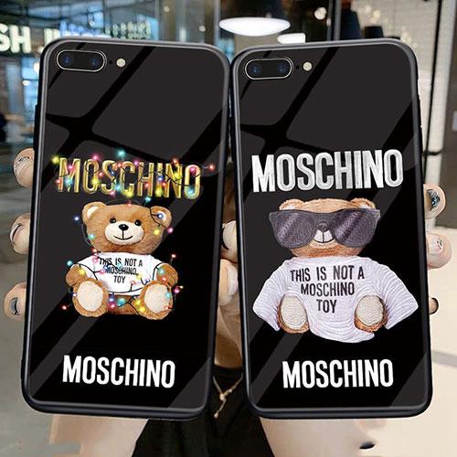 モスキーノ ブランド iphone 12/12 pro/12 mini/12 pro max/11/11 pro/11 pro max/se2ケース ぬいぐるみ テディベア柄 背面ガラス Moschino きらきら Galaxy a51/a30/a20/s20/s20+/s20 ultra/s10/s10+/note20 ultra/note10/note9ケース MOSCHINO Huawei p40/mate40ケース お洒落 メンズ レディース