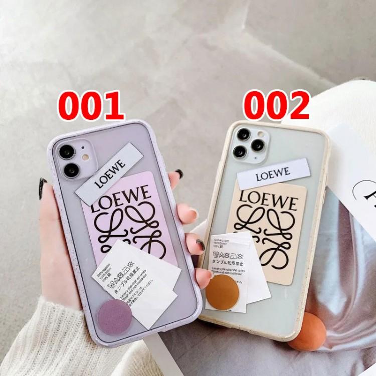 ロエベ iphone 12mini/12pro/12pro max/11ケース シンプル 個性ラベル クリアケース Loewe ジャケット型 耐衝撃 アイフォン12/11 pro/11 pro max/xs/x/xr/11/8 plusケース おまけつき ファッション レディース