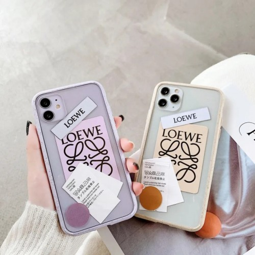 ロエベ ブランド iphone 13/12mini/12pro/12pro max/11ケース シンプル 個性ラベル クリアケース Loewe ジャケット型 耐衝撃 アイフォン12/11 pro/11 pro max/xs/x/xr/11/8 plusケース おまけつき ファッション レディース