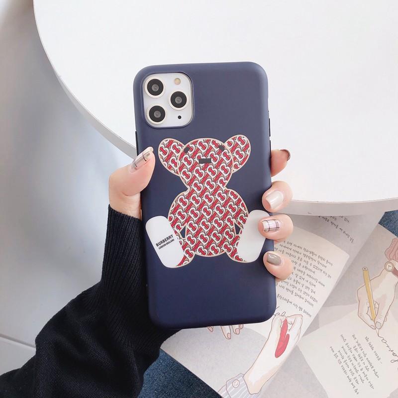 バーバリー iPhone 13/12/12 mini/12 pro/12 pro max/11ケース ブランド 経典 個性熊柄ケース BURBERRY ファッション