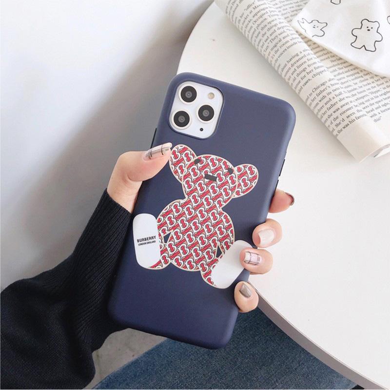 Burberryバーバリー ブランドiphone 13/12 mini/12 pro max/12 pro/11ケース 個性 熊 アイフォン12/11ケース
