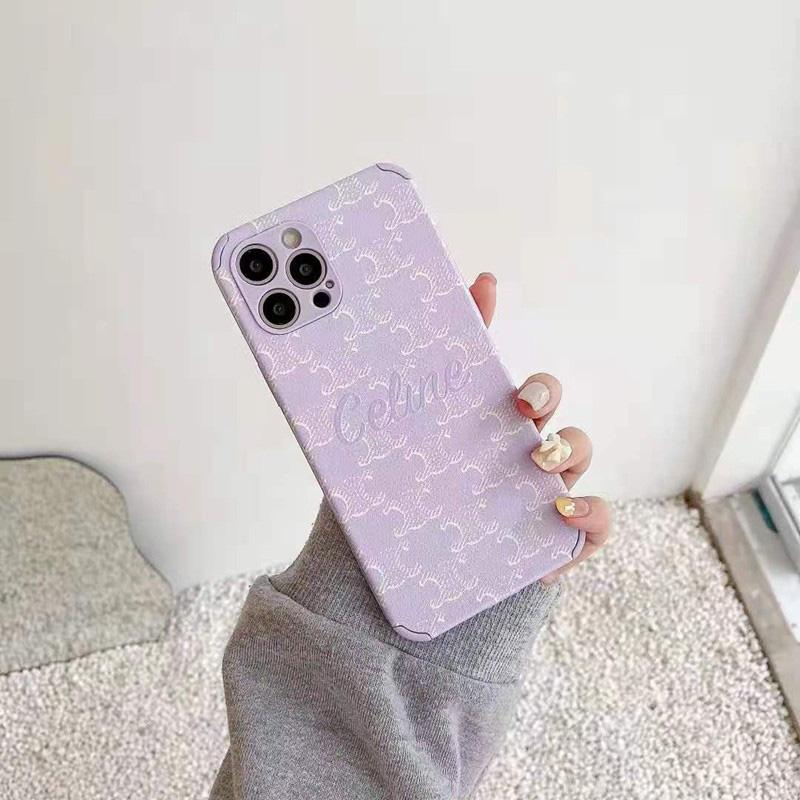 ブランドiphone13/12miniケースセリース紫