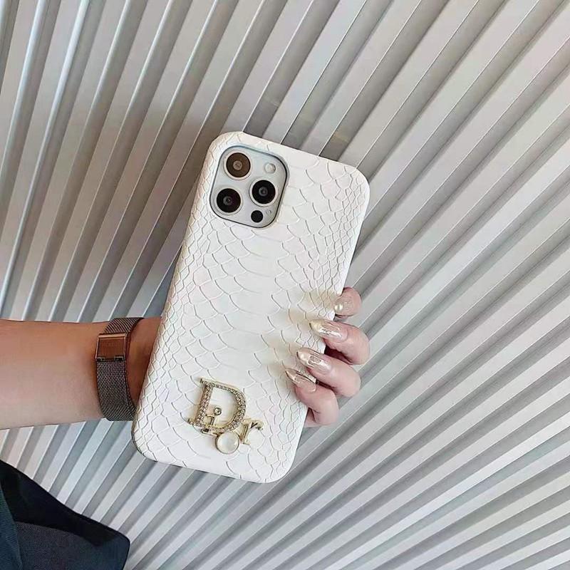 ディオールiphone13/12 pro maxケース 高級革