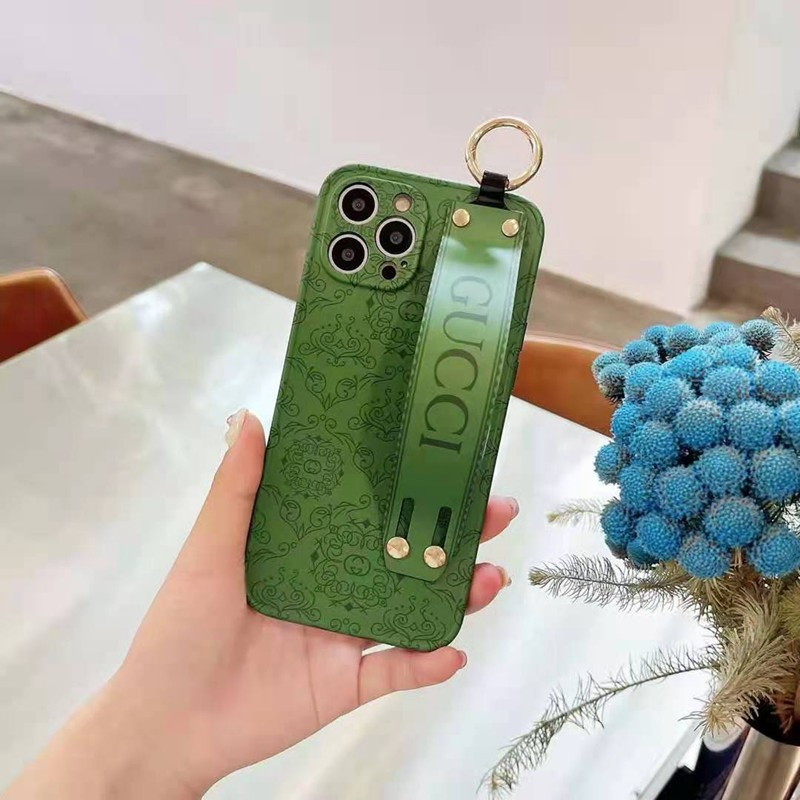 グッチ ブランド iphone13/12 pro max ケース 緑色