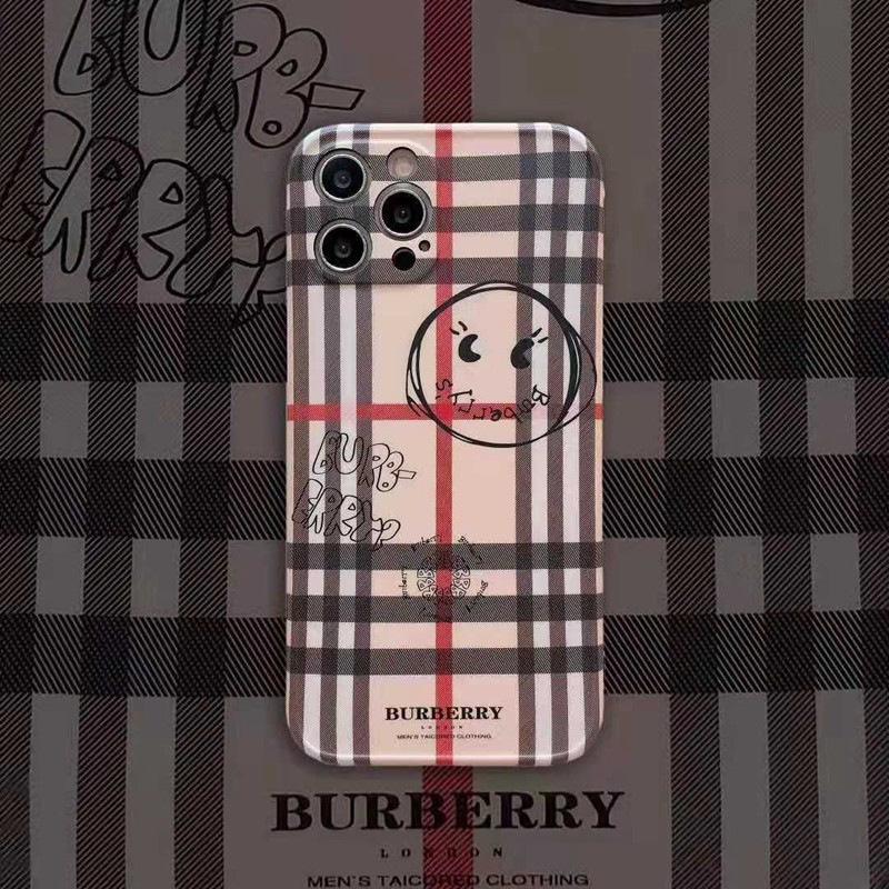 Burberryバーバリー ブランドiphone 12 mini/12 pro max/11 pro max/se2ケース 格子 人気 棒線柄 モノグラム ジャケット 男女兼用 アイフォン