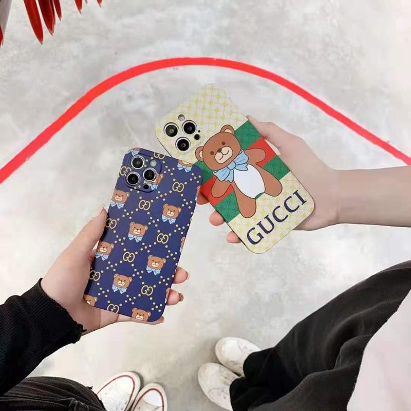 グッチ iphone 12 pro/12 pro max/12 mini/11 pro/11 pro max/se2ケース ブランド 熊柄 airpods pro/1/2/3ケース 韓国風 シンプル GUCCI アイフォン12/11/x/xs/xr/8/7カバー