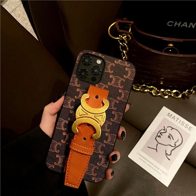 セリーヌ ブランド iphone 12 mini/12 pro max/11/11 pro max/se2ケース レザー製 銅色ベルト Galaxy S21/S21+/S21 ultra/a51/s20/note20/note10カバー