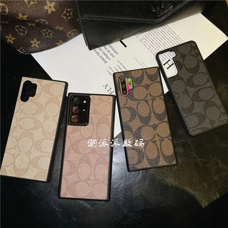 コーチ 贅沢風 Galaxy S21/S21 ultra/S20 ultra/A51/A32/note20 ultra/note10ケース かわいい ブランド COACH レザー感 おまけつき 経典柄 iphone12 mini