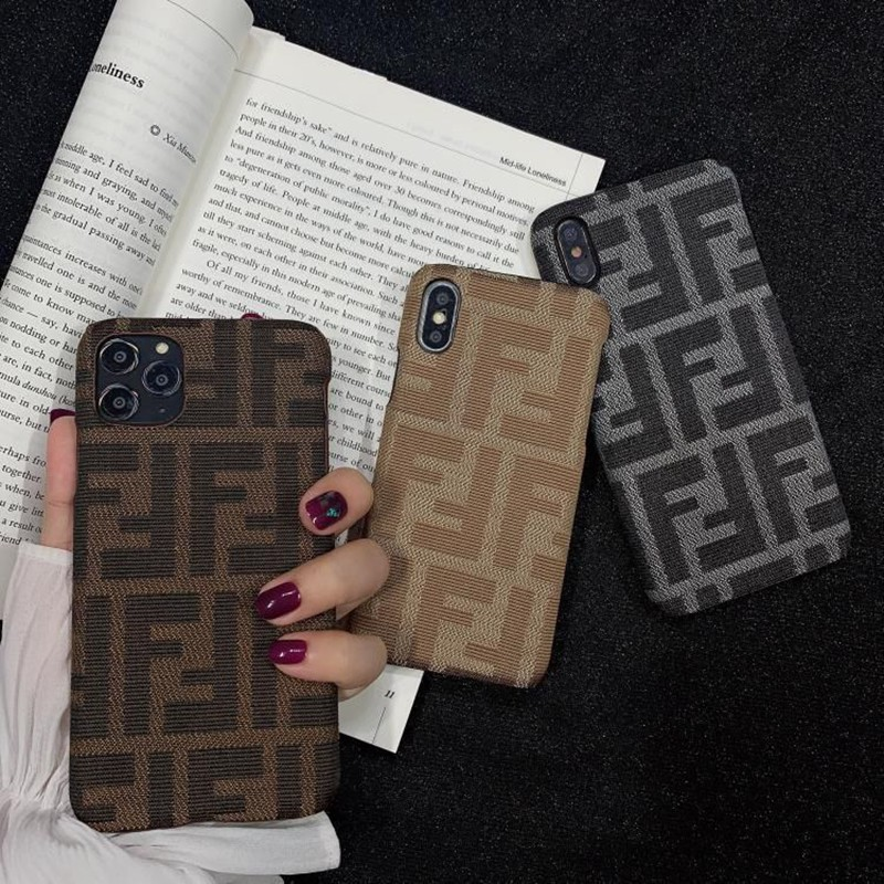 フェンディ iPhonei12/12 pro/12 mini/12 pro max/11/11 pro/11 pro max/se2ケース シンプル FENDI モノグラム 刺繍 ブランド 布製 Galaxy S21/S21+/S21 ultra/A51 男女通用