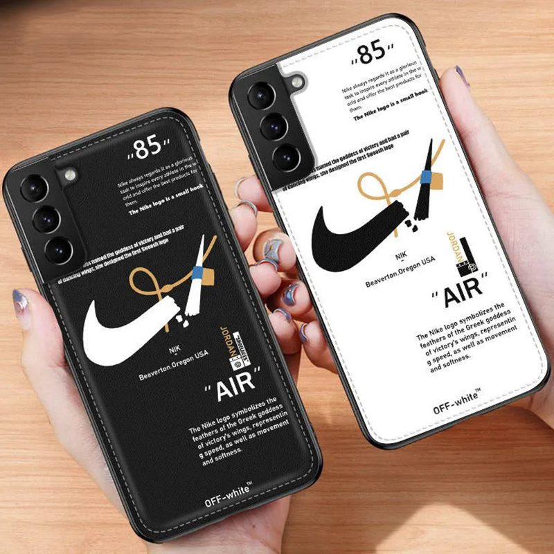 Off-white/オフホワイト iphone 12/12 pro/12 mini/12 pro max/11ケース 壊れたスウッシュ Galaxy S21/S21+/S21 ultra/s20/s20+/s20 ultra/note20/s10ケース モノグラム ロゴ Nike/ナイキ レザー AIR JORDAN/ジョーダン ステッチ風