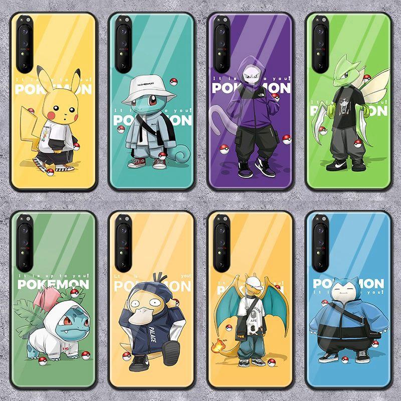 ポケットモンスター ピカチュウ Galaxy s21/21+/21ultraカバー 全機種対応 背面ガラス ゼニガメ iphone 12 mini/12 pro max/11/se2ケース コダック Xperia 1III/5ii/10III