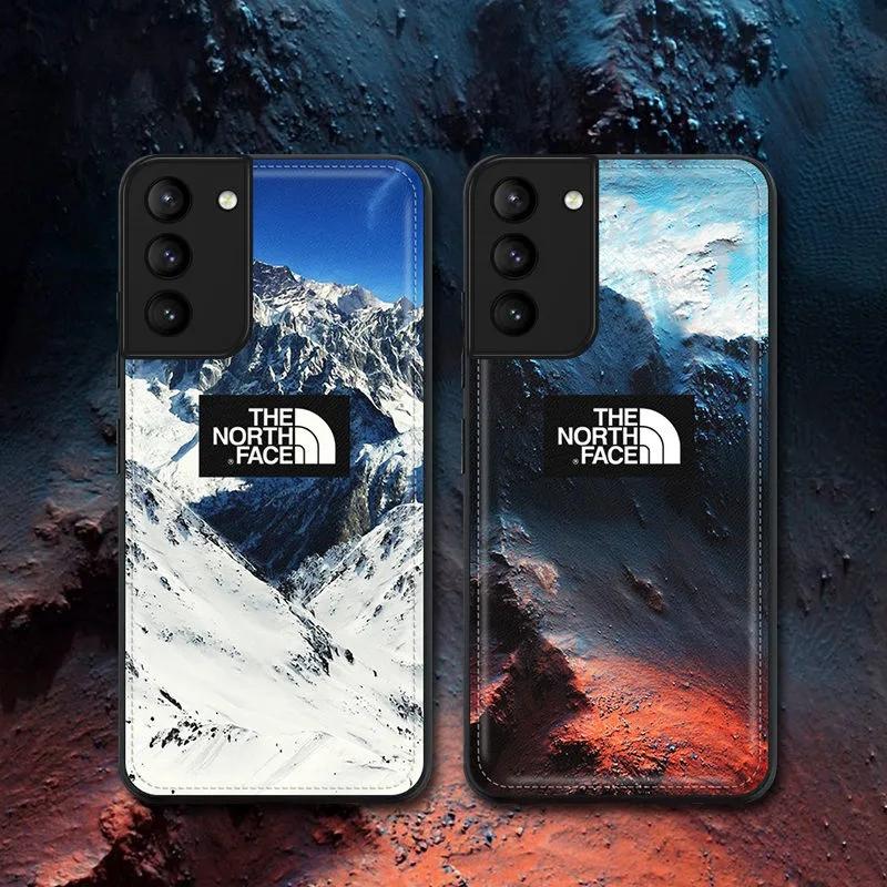 The North FaceザノースフェイスGalaxy s21/21+/21ultra/s20ケース 革 雪山 iphone12pro/12mini/12pro max/11 ブランド 可愛い 男女通用
