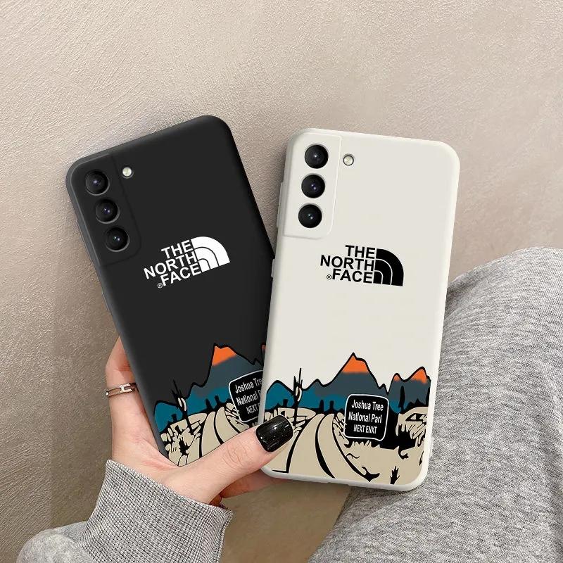 ザ・ノース・フェイス iphone 12 mini/12 pro max/11 pro max/se2ケース カリフォルニア 高速道路柄 THE NORTH FACE ブランド シリコン Galaxy s21/21+/21ultra/s20ケース ソフト Huawei