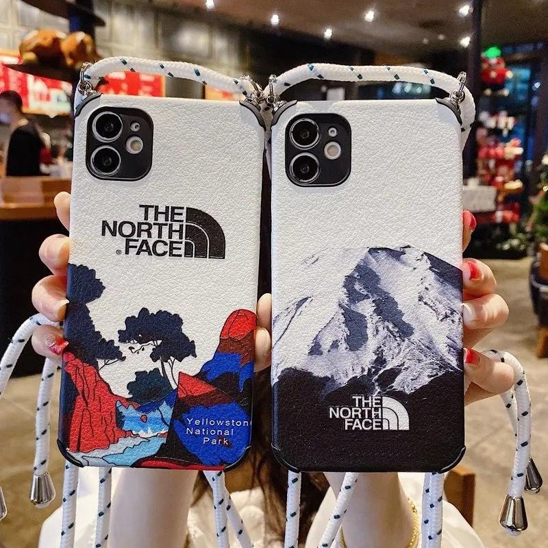 ザ.ノース.フェイス Galaxy s21/a51 5g/s20/s10/note20/note10ケース ブランド 雪山 シュプリーム イエローストーン国立公園 The North Face PU羊革 iphone 12 pro/12 pro max/12 mini/11