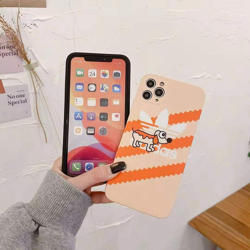 アディダスAdidasブランドiphone12/12pro max/12mini/11pro maxケース 芸能人愛用 トレフォイル 兎犬 激安 ジャケット型