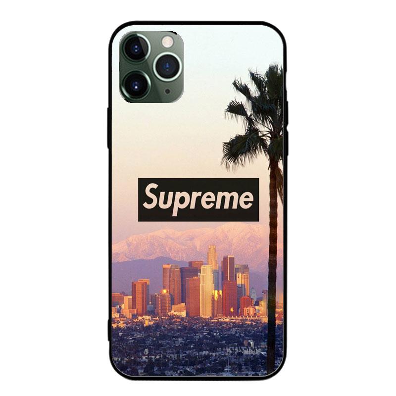 SupremeシュプリームAquos R5Gケースxperia5ii全機種対応 ブランドiphone12mini 都市 桥 カラー 煙柄 ガラス ジャケット型 モノグラム Galaxy S20/a51 女性