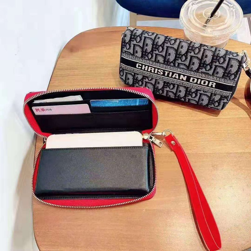 Diorディオール ブランドiphone12mini/12pro max/11ケース 全機種対応 財布型aquos r5gハンドバッグgalaxy note20個性xperia5iiケースairpods pro女性向け