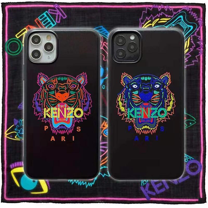 ケンゾー iphone12/12mini/12pro/12pro maxケース モノグラム 虎頭柄 Kenzo 経典 人気ブランド 黒色 アイフォン11