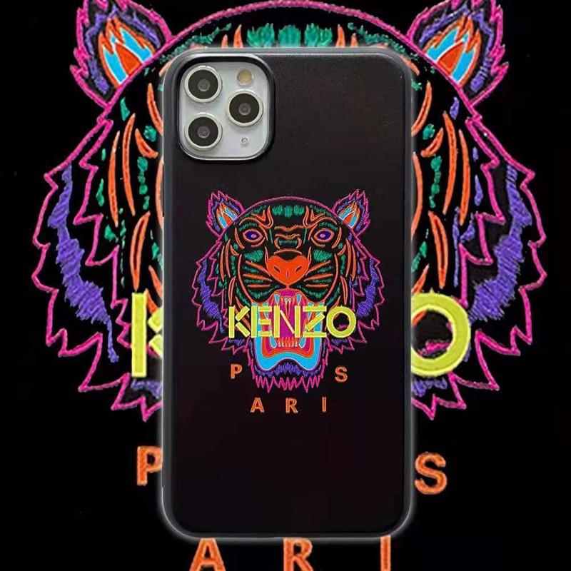 ケンゾーKenzoブランドiphone12mini/12pro/12pro max/11ケース 個性 虎頭 ビジネス モノグラム 男女兼用