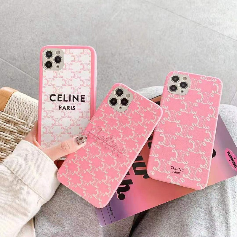 Celine AQUOS Zero5G Basic/R5G/sense4ケース 刺繍柄  柔らか セリーヌ シリコンケース CELINE Galaxy S20/S20 ultra/note20 ultra/a51 韓国風