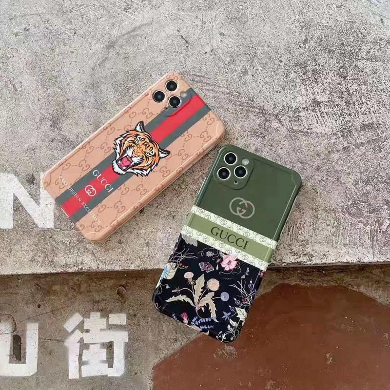 グッチ iphone 12/12 pro/12 mini/12 pro max/11/11 pro/11 pro max/se2ケース お洒落 虎頭 タンポポ プラント花柄 ブランド ストランプ付 GUCCI バタフライ