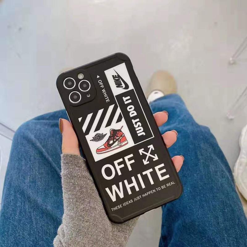 ジョーダンAJオフホワイトOff-whiteナイキNikeコンボ アイフォン12pro/12pro max/12mini/11ケース シンプル ブランド ジャケット型 Air Jordan 男女通用