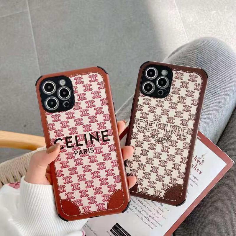 CELINE レザー風  iphone 12/12 pro/12 mini/12 pro max/11/11 pro/11 pro max/se2ケース セリーヌ 贅沢風 ブランド ジャケット型 モノグラム 四角保護