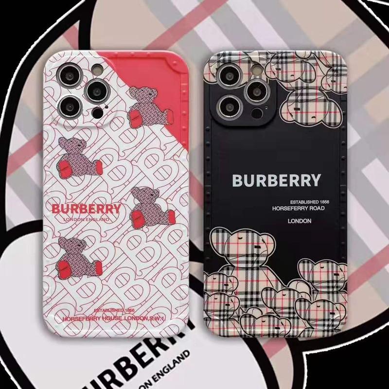 バーバリー iphone 12 pro/12 pro maxケース ブランド Burberry  ベア熊柄 モノグラム ジャケット型 iphone 12/12 mini/11/11 pro/11 pro maxケース 2021