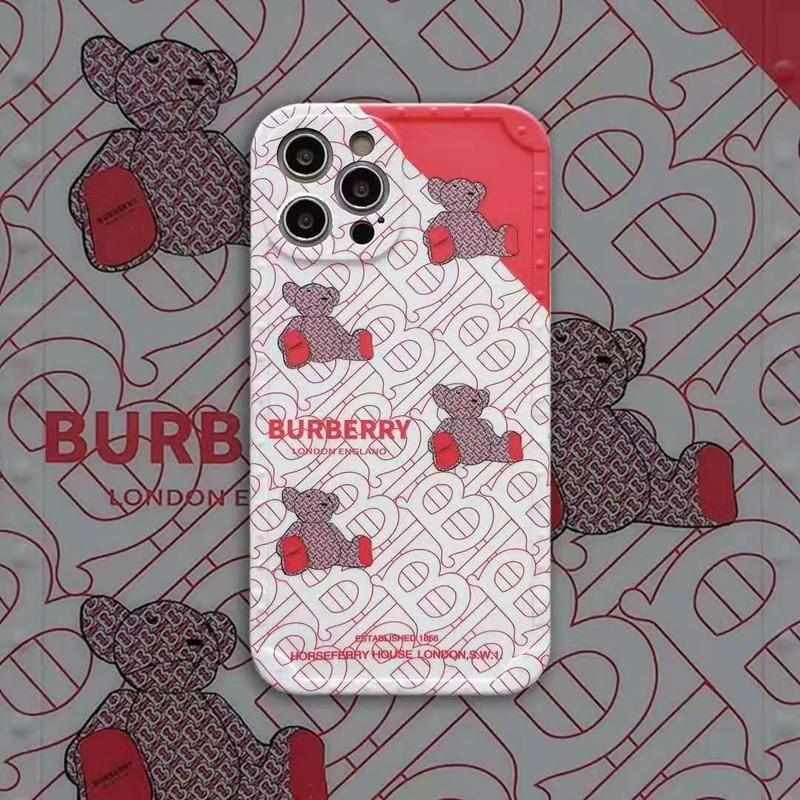 バーバリーBurberryブランド熊柄iphone12pro/12mini/12pro max/11ケース 可愛い モノグラム ジャケット型 男女通用 アイフォン
