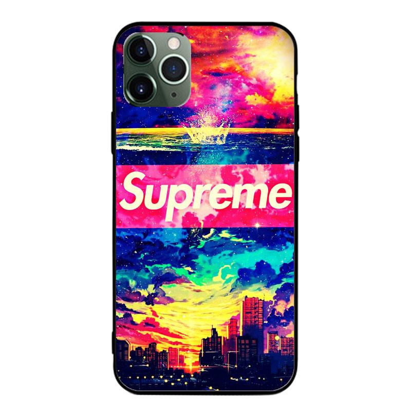 SupremeシュプリームAQUOS R5Gケースxperia5ii全機種対応 ブランドiphone12miniローズ カエデ葉 迷彩 ガラス ジャケット型 モノグラム Galaxy S20/a51 女性