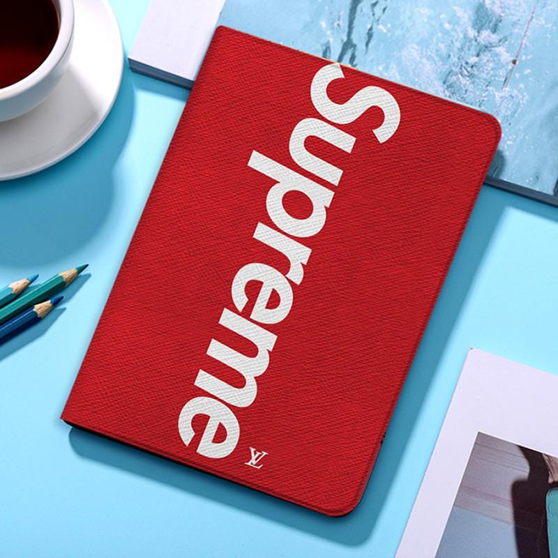 Supreme ブランド iPad Pro 2021 12.9/11inch ケース シュプリーム ipad mini 4/5/8/7世代 カバー 赤色 ルイヴィトン アイパッド 5/6 9.7インチ 激安 LV すべてのipad機種対応