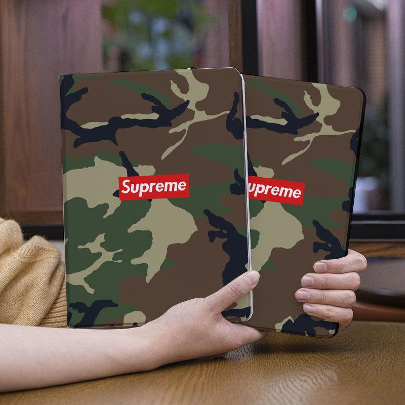SupremeシュプリームBapeブランドipad pro 2021カバー 迷彩 全機種対応 2020 激安 手帳型 モノグラムアイパッド 6/5/4/3/2ケース iPadミニ5/4/3/2/1カバー パロディ