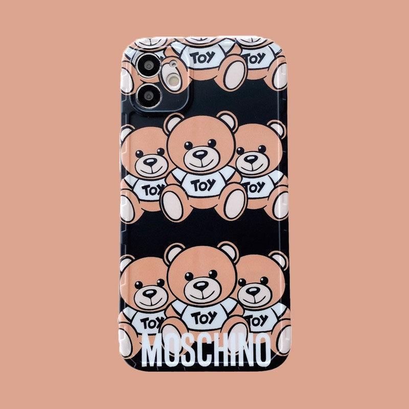 モスキーノMoschinoブランドiphone12pro/12mini/12pro max/11ケース お洒落 ぬいぐるみ熊 芸能人愛用 耐衝撃