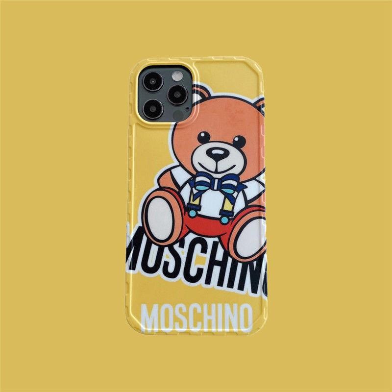 モスキーノMoschinoブランドiphone12pro/12mini/12pro max/11ケース 熊柄 可愛い インスタ風 セレブ愛用